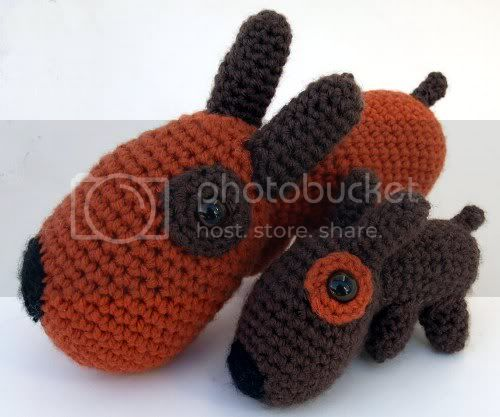 Mommy and Puppy Amigurumi &lt;br&gt; Made to Order